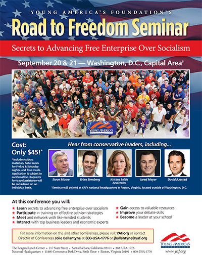 Young America's Foundation Road to Freedom Seminar